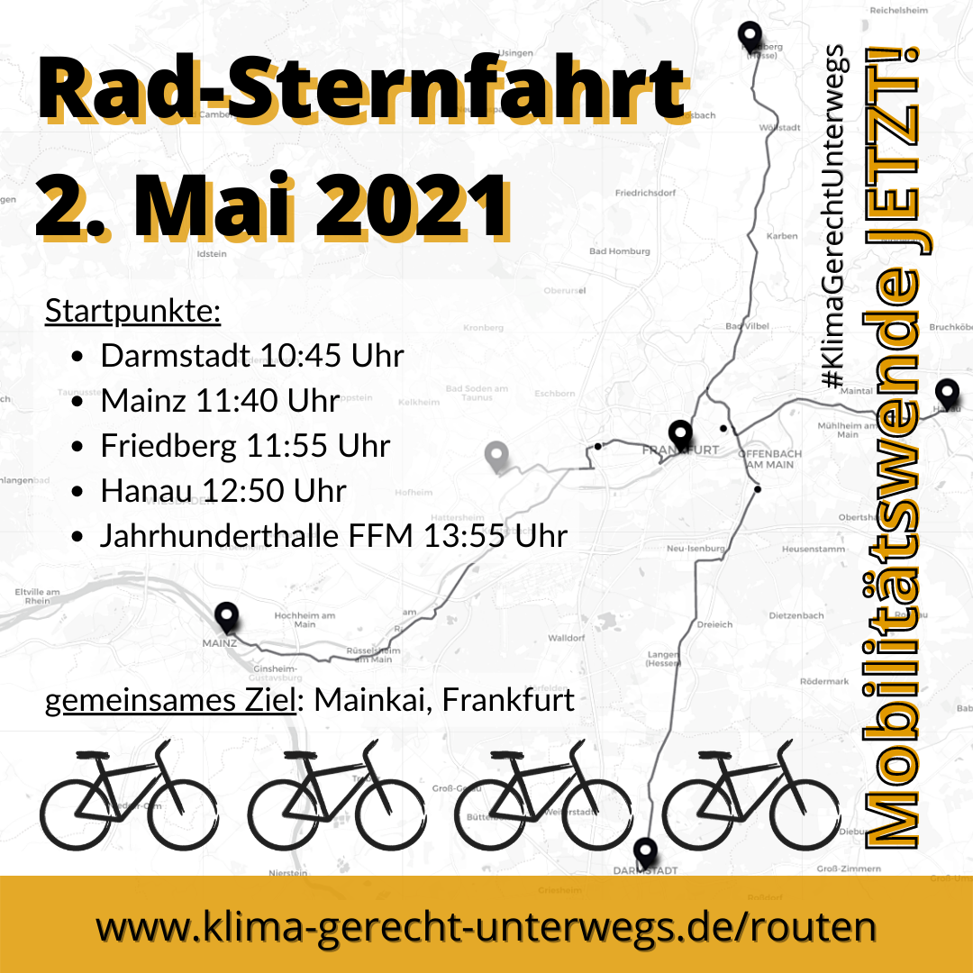 Streckenkarte Darmstadt/Mainz/Friedberg/Hanau